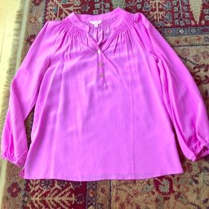 Lilly Pulitzer Elsa top sz small, solid lilac/pink